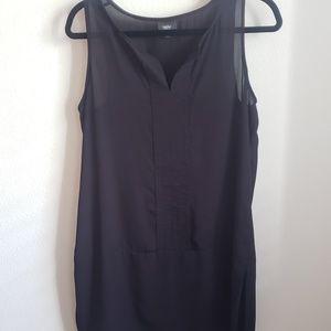 Mossimo black sheer tunic top Medium